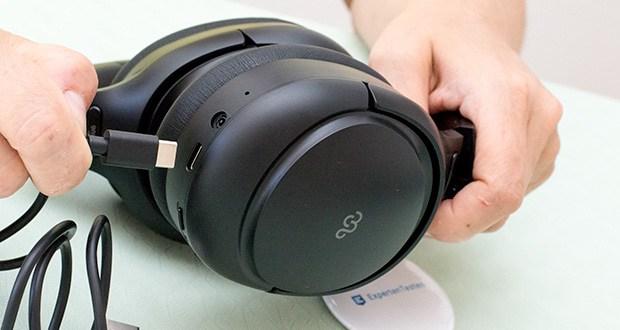 Mu6 Space 2 Bluetooth Kopfhörer im Test - Akkukapazität: 800mAH; Ladezeit: 4 Stunden; Ladeanschluss: USB Typ-C