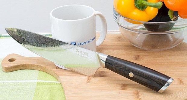 küchenspecht Kochmesser aus Damast Stahl im Test - macht das Kochen wirklich Spaß!