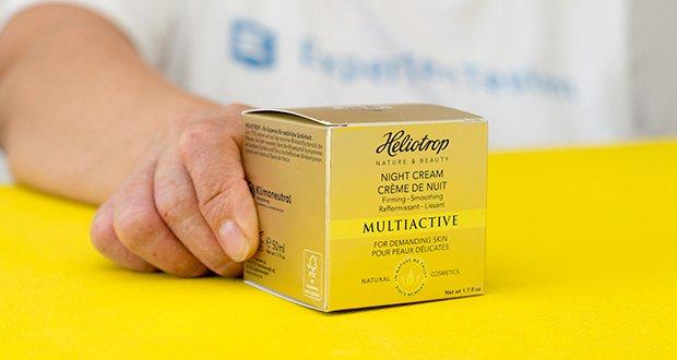 HELIOTROP Naturkosmetik Multiactive Nachtcreme im Test - aus eigener Herstellung in Deutschland