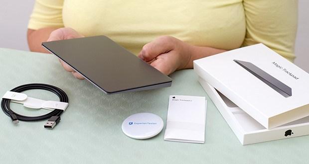 Apple Magic Trackpad 2 im Test - Lieferumfang: Magic Trackpad 2, Lightning auf USB Kabel