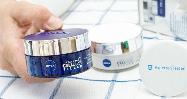 NIVEA Hyaluron Cellular Filler Anti-Age Tag & Nacht Set im Test - die regenerierende Nachtcreme versorgt die Haut über Nacht intensiv mit Feuchtigkeit