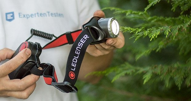 Die LED-Stirnlampe H7R.2 von Ledlenser im Test