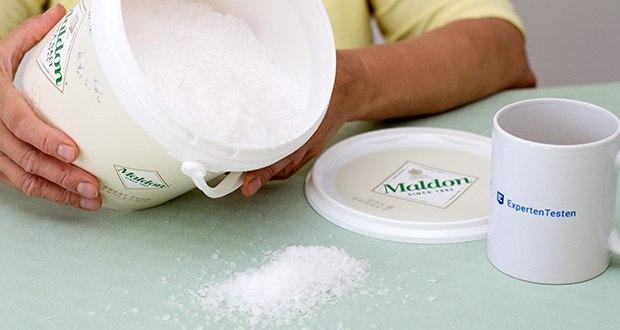 Maldon Sea Salt Flakes Meersalzkristalle im Test - Reinheit des Salzaromas, die sie liefern, die den Unterschied ausmachen