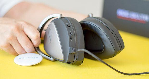 ASUS ROG Delta Gaming Headset im Test - verfügt über ergonomische, D-förmige Ohrmuscheln