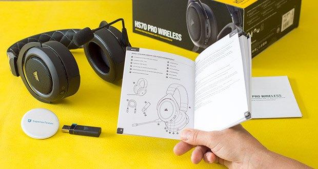 Corsair HS70 Pro Wireless Gaming Headset im Test - iCUE-Software ermöglicht personalisierte Audio-Equalizer-Einstellungen, immersiven 7.1-Surround-Sound und mehr