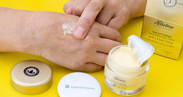 HELIOTROP Naturkosmetik Multiactive Nachtcreme im Test - die hoch-antioxidativen Eigenschaften der Hyaluron Nachtcreme schützen die Haut vor freien Radikalen und vorzeitiger Hautalterung
