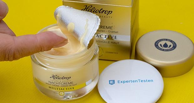 HELIOTROP Naturkosmetik Multiactive Nachtcreme im Test - regeneriert Ihre Haut über Nacht mit 7-fach wirksamer Hyaluronsäure, Hibiskusextrakt, Vitamin E, Bio-Sheabutter und Bio-Mandelöl