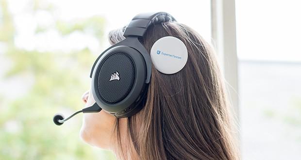 Corsair HS70 Pro Wireless Gaming Headset im Test - das leichte Gewicht und die robuste Konstruktion aus Aluminiumbügeln verleihen dem HS70 PRO eine lange Lebensdauer