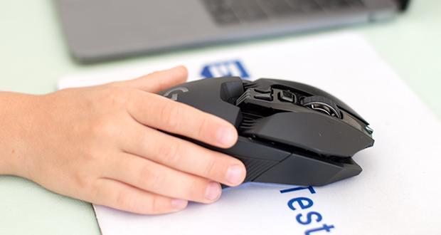 Logitech G903 LIGHTSPEED kabellose Gaming-Maus im Test - die professionelle Signalrate von 1 Millisekunde sorgt für unübertroffene Performance und Bewegungsfreiheit ohne Kompromisse bei Gewicht, Akkulaufzeit oder Reaktionsschnelligkeit