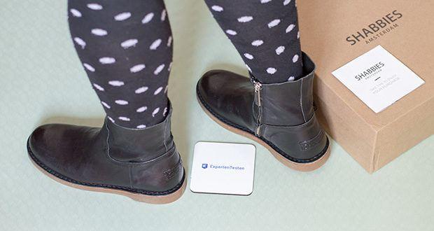 Shabbies Amsterdam Damen Alissa Stiefeletten im Test - Damen Stiefelette mit Blockabsatz 6 cm