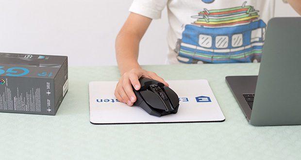 Logitech G903 LIGHTSPEED kabellose Gaming-Maus im Test - bietet LIGHTSYNC RGB-Beleuchtung mit 16,8 Millionen Farben, ein für Links- und Rechtshänder geeignetes Design und bis zu 11 Maustasten