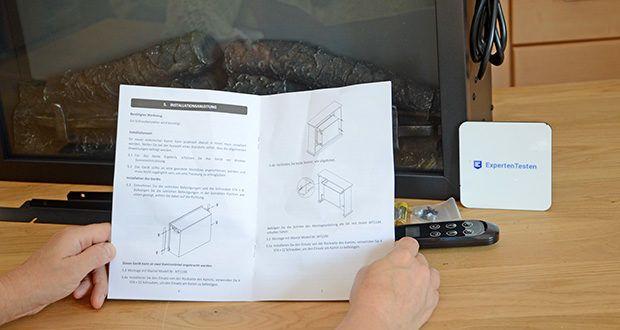 RICHEN Elektrischer Standkamin Baldur EF119B-MT119A im Test - besteht aus dem Kamin und dem Kaminsims aus MDF/ weiß matt lackiert