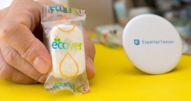 Ecover All-In-One Spülmaschinen-Tabs Zitrone & Mandarine im Test - die Tabs selber sind von einer Folie aus recycelbarem Polypropylen umgeben, die sie vor Feuchtigkeit schützt