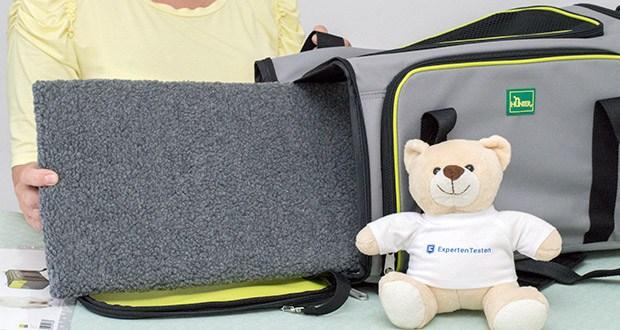 HUNTER SYDNEY Tragetasche für Hunde und Katzen im Test - die weiche Matte kann herausgenommen und gewaschen werden