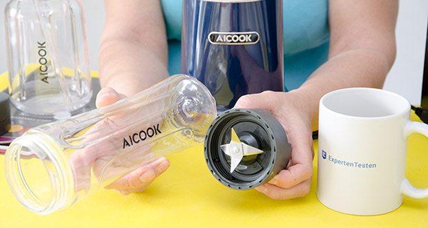 AICOOK Smoothie Maker im Test - Sportflasche mit Deckel ideal für Sportliebhaber