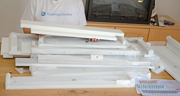 RICHEN Elektrischer Standkamin Baldur EF119B-MT119A im Test - mit Mantel aus MDF-Platten