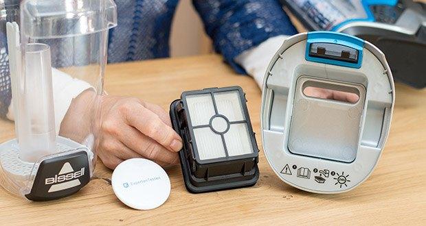 BISSELL 2225N Crosswave Pet Pro 3-in-1 Bodenreiniger im Test - wird mit einem waschbaren Filter geliefert, den Sie nach Belieben austauschen können