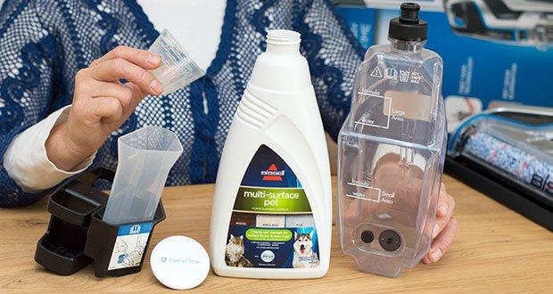 BISSELL 2225N Crosswave Pet Pro 3-in-1 Bodenreiniger im Test - CrossWave Pet Pro beinhaltet spezielles Haustier-Reinigungsmittel, das Tiergerüche entfernt