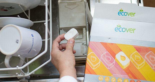 Ecover All-In-One Spülmaschinen-Tabs Zitrone & Mandarine im Test - pflanzenbasierte Formel, saubere Lösung