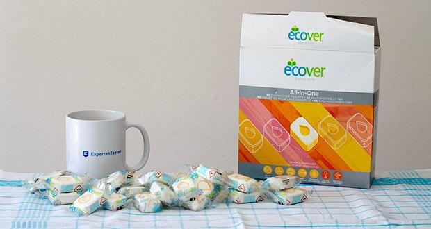 Ecover All-In-One Spülmaschinen-Tabs Zitrone & Mandarine im Test - für glänzendes Geschirr mit einem frischen Duft nach Zitrone und Mandarine