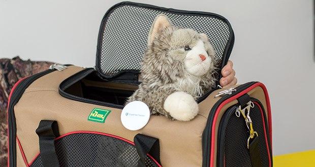 HUNTER KANSAS Tragetasche für Hunde und Katzen im Test - zwei große Einstiegslöcher ermöglichen einen einfachen und problemlosen Einstieg des Hundes