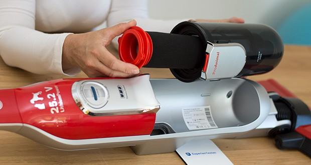 Bosch BCH6ZOOO Athlet Akku Staubsauger im Test - Filter waschbar und ein Leben lang haltbar: keine Folgekosten