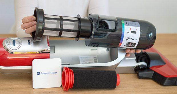 Bosch BCH6ZOOO Athlet Akku Staubsauger im Test - Hygiene Filter