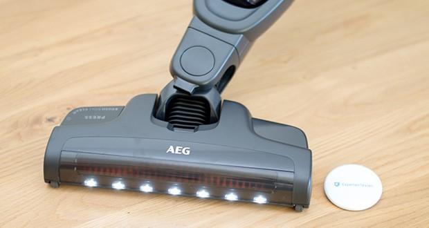 AEG QX9-1-50IB 2in1 Akku-Staubsauger im Test - 180° drehbare Multi-Bodendüse mit LED-Frontlicht und Bürstenselbstreinigungsfunktion