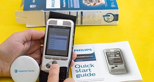 Philips DPM6000 Digitales Diktiergerät im Test - verfügt über ein hochauflösendes Farbdisplay