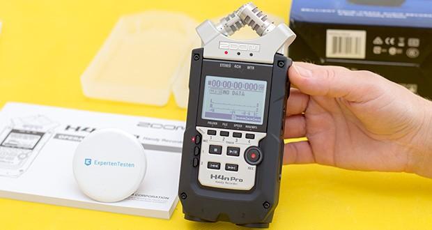 Zoom H4nPro Digital Multitrack Recorder im Test - 3 verschiedene Aufnahmemodi: Stereo, 4-Kanal, MTR