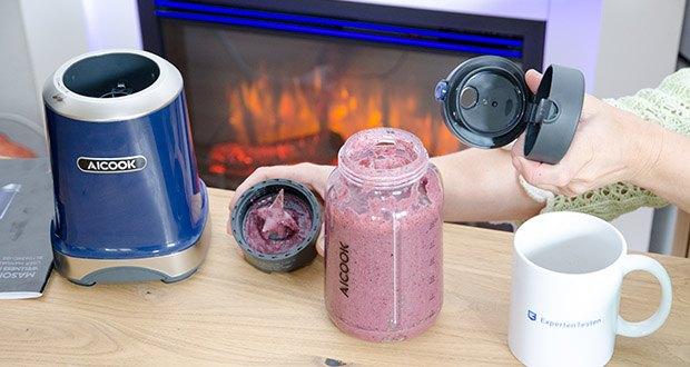 AICOOK Smoothie Maker im Test - einfaches und intuitives Design macht dieser Mixer zu einem jeden Tag verwendbaren Gerät