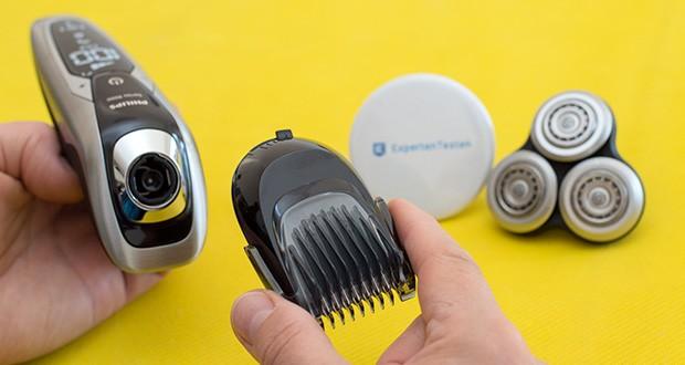 Philips S9711/31 Elektrischer Nass-und Trockenrasierer im Test - Zubehör zum Trimmen/Stylen: SmartClick-Bartstyler