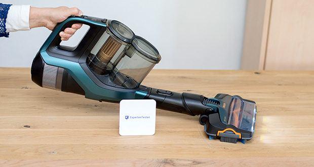 Philips XC8147/01 SpeedPro Max Aqua Staubsauger mit Wischfunktion im Test - die einzigartige 360 Grad -Saugdüse nimmt mehr Schmutz und Staub von allen Seiten auf - bis zu 99,7% des Staubs und des Schmutzes werden aufgenommen