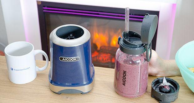 AICOOK Smoothie Maker im Test - passt problemlos in Büro, Fitnessstudio, Hotel, Zuhause...