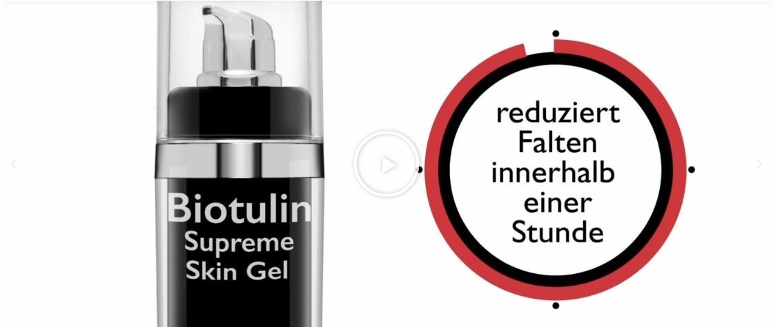 Werbung für Biotulin