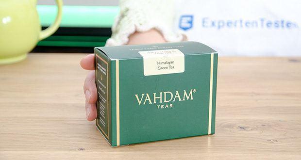 VAHDAM Grüne Teeblätter aus dem Himalaya im Test - von Hand gepflückt und in Teeplantagen im Himalaya produziert