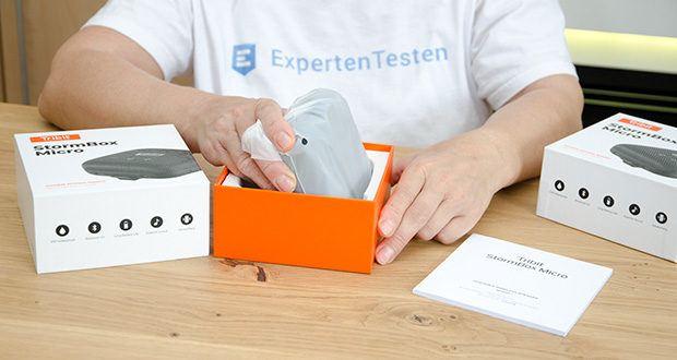 Tribit Stormbox Micro Bluetooth Lautsprecher im Test - wurde als perfekter Outdoorbegleiter entwickelt, er trotzt jeglichen Stürzen in felsigen Gebieten, Dreck und Schlamm aller Art