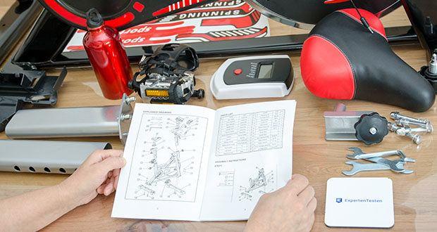 Bigzzia Profi-Heimtrainer mit LCD-Anzeige im Test - ausführliche Montageanleitung für den einfachen Aufbau