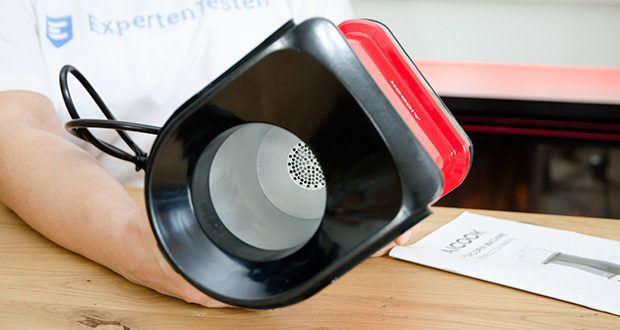 Aicook Popcornmaschine 1400W im Test - Antihaft-Innenbehälter: Vermeidet, dass Maiskerne an ihm kleben und lässt sich leicht reinigen