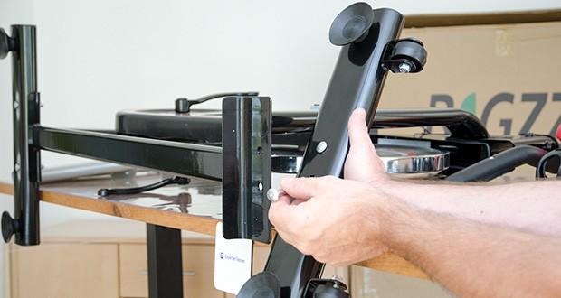 Bigzzia Profi-Heimtrainer mit LCD-Anzeige im Test - der Zusammenbau ist sehr einfach und dauert etwa 15 Minuten