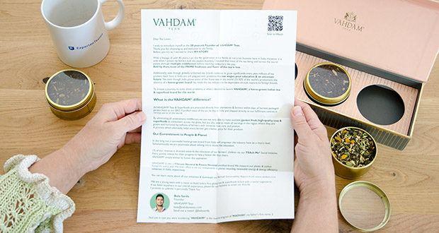 VAHDAM Sortiertes 3 Tee-Geschenkset im Test - 100% natürliche Zutaten