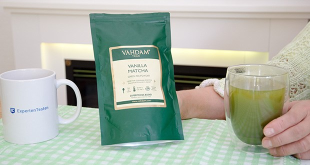 VAHDAM Vanille Matcha Grüntee Pulver im Test - verwöhnen Sie sich mit einem bezaubernden cremigen, nussigen Geschmack, der sich perfekt mit dem frischen pflanzlichen Geschmack unseres Matchas verbindet