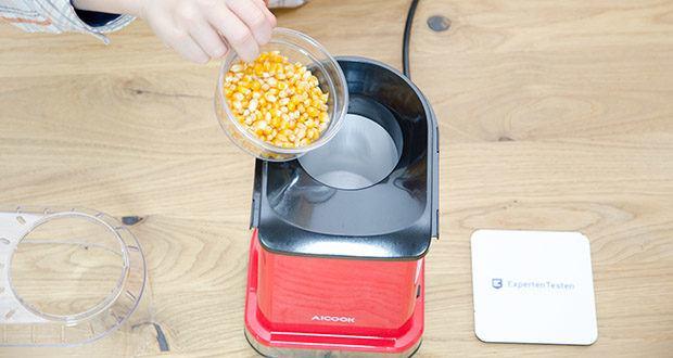 Aicook Popcornmaschine 1400W im Test - multifunktionaler, abnehmbarer Messbecher zur Messung der Körner und zum Schmelzen der Butter während des Arbeitsprozesses