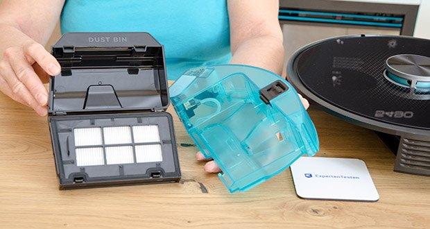 Cecotec Conga 5490 Saugroboter im Test - Wash4You Technologie, um die Wassermenge gleichförmig und intelligent durch elektronische Steuerung zu kontrollieren und zu dosifieren