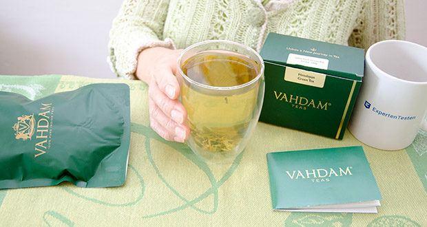 VAHDAM Grüne Teeblätter aus dem Himalaya im Test - exklusiver Long Leaf Grüner Tee reich an natürlichen Antioxidantien & Flavonoiden