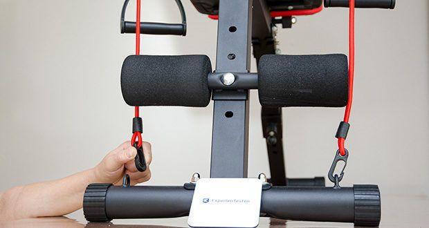 Bigzzia verstellbare Hantelbank im Test - mit rutschfesten Knöchelrollenpolstern aus Kunststoff