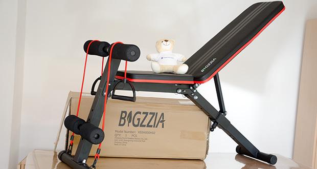 Bigzzia verstellbare Hantelbank im Test - mit klappbarer Neigung ist ideal für das Training von Brust, Schultern, Rücken, Bauchmuskeln und mehr