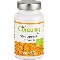 Vitactiv Natural Nutrition Bio Curcuma Curcumin Kapseln Test