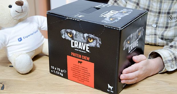 CRAVE Protein Chew für mittelgroße Hunde mit Rind im Test - Leckerlis für ausgewachsene Hunde ab 9 Monaten