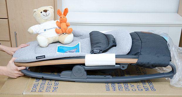 Maxi-Cosi Kori 2-in-1 Babywippe im Test - einhändiges Zurückklappen